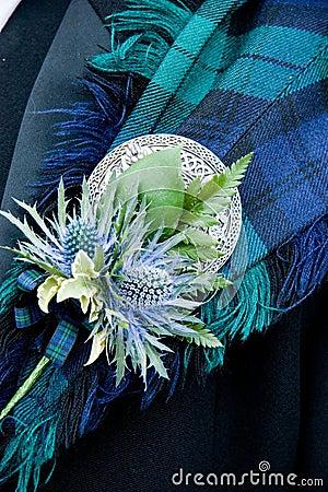 Free Scottish Wedding Button Hole Stock Photography - 3185102