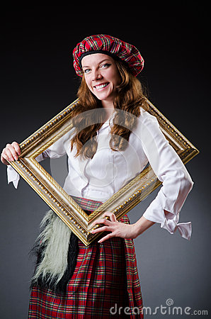 Scottish woman with frame