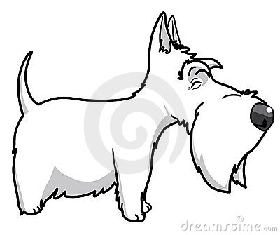 Cartoon Scottish Terrier