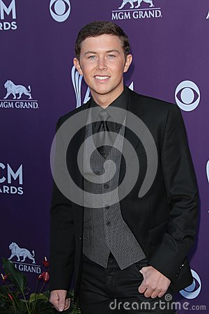 Scotty McCreery at the 47th Academy Of Country Music Awards Arrivals, MGM Grand, Las Vegas, NV 04-01-12 Editorial Stock Image