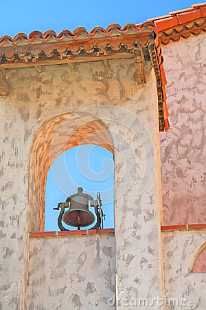 Free Scottys Castle - Bell Tower Details Stock Photography - 64460022