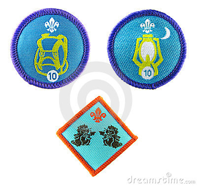 Scout badges Editorial Image