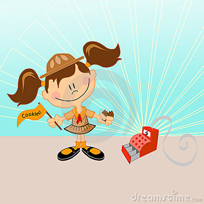 Free Scout Girl Stock Photography - 7426182