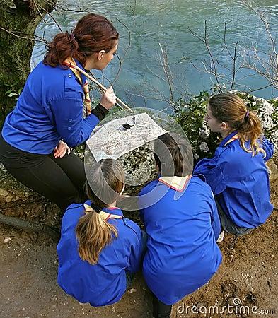 Scouts learn orientation 2