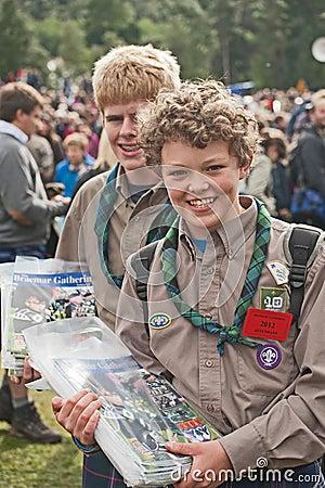 Scouts selling programs at Braemar Editorial Image