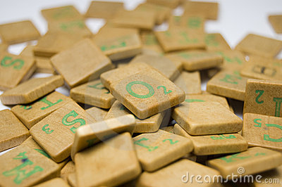 Scrabble bricks