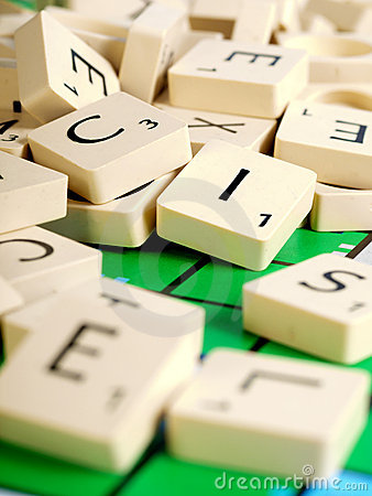 Free Scrabble Letters Royalty Free Stock Photo - 13964315