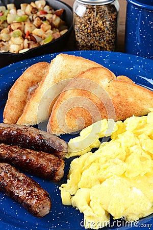Scrambled Egg Breakfast Vertical Stock Photo
