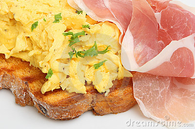 Scrambled Eggs with Parma Ham