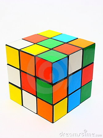 Scrambled rubik s cube Editorial Photography