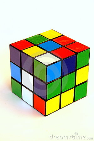 Free Scrambled Rubik S Cube Royalty Free Stock Photography - 9007097