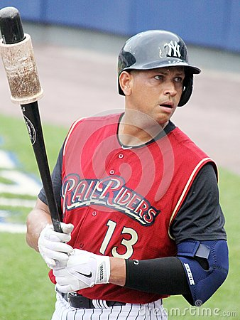 Scranton Wilkes Barre  Railriders' Alex Rodriguez Editorial Photo