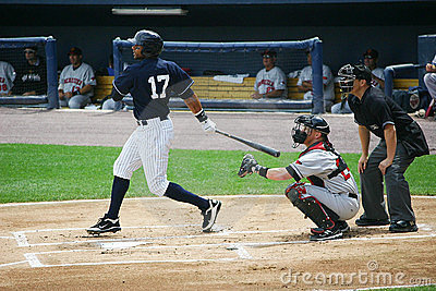 Scranton Wilkes Barre Yankees batter Chris Dickers Editorial Image