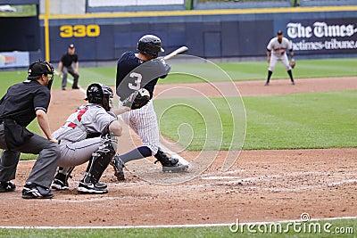 Scranton Wilkes Barre Yankees batter Daniel Brewer Editorial Photo