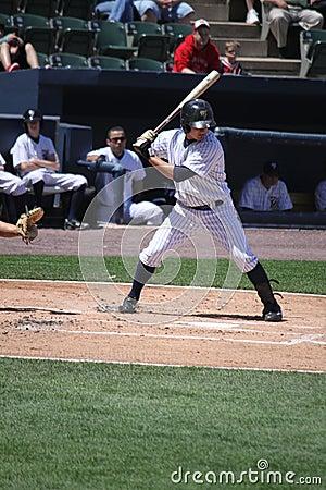 Scranton Wilkes Barre Yankees batter Luis Nunez Editorial Stock Image