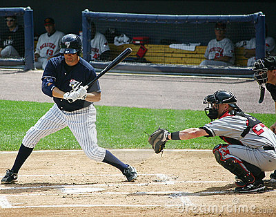 Scranton Wilkes Barre Yankees batter Mike Lamb Editorial Photography