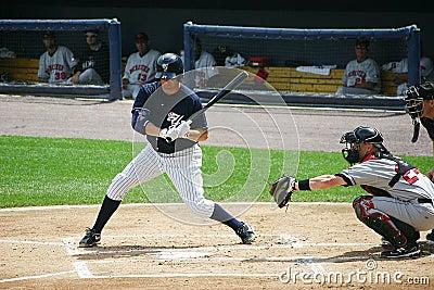 Scranton Wilkes Barre Yankees batter Mike Lamb Editorial Stock Photo