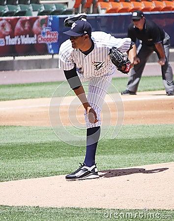 Scranton Wilkes Barre Yankees Hector Noesi Editorial Image