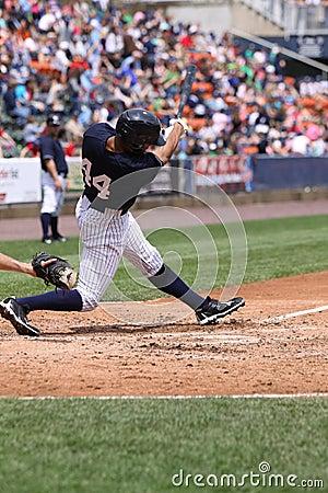 Scranton Wilkes Barre Yankees Justin Maxwell Editorial Image