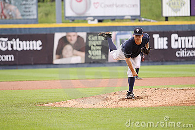 Scranton Wilkes Barre Yankees pitcher Adam Warren Editorial Stock Photo