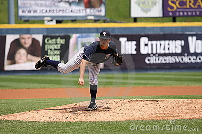 Scranton Wilkes Barre Yankees pitcher Adam Warren Editorial Photo