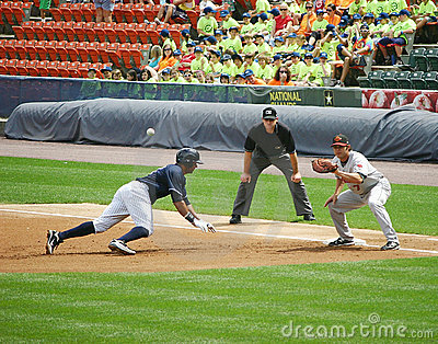 Scranton Wilkes Barre Yankees runner Chris Dickers Editorial Image