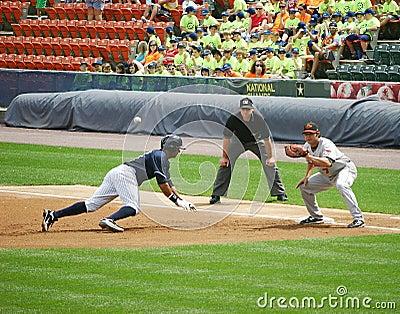 Scranton Wilkes Barre Yankees runner Chris Dickers Editorial Image