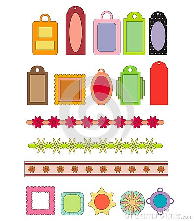 Scrap-booking elements