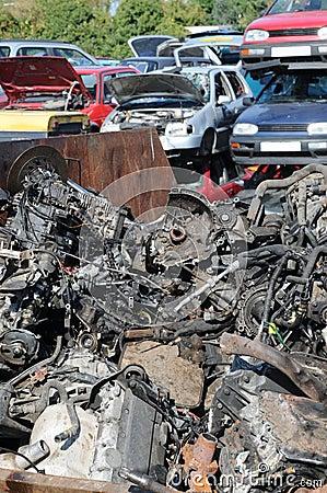 Scrap and cars