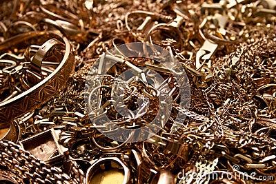 Scrap gold jewelry
