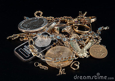 Scrap Gold & Silver Coins and Jewels