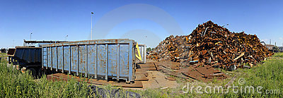 Scrap heap panorama