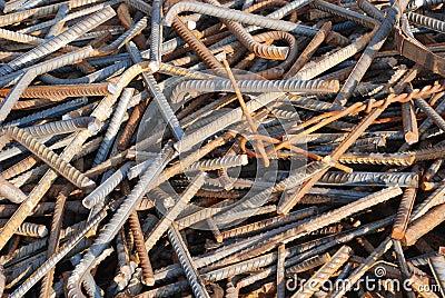 The scrap iron backgoround