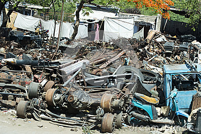 Scrap Iron, Old Car Parts, Junkyard or Junk Yard