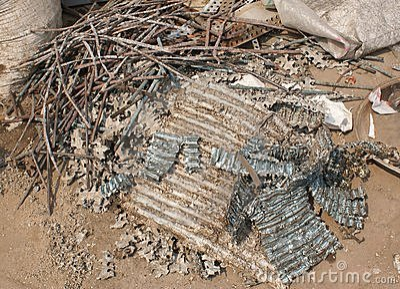 Scrap metal for recycling