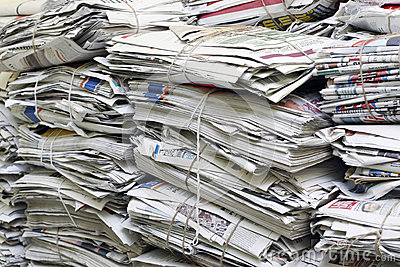 Scrap newspapers Editorial Stock Image