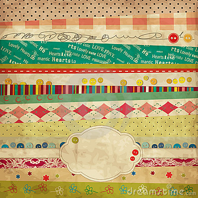 Free Scrap Template Of Vintage Worn Distressed Design Stock Photo - 19408760