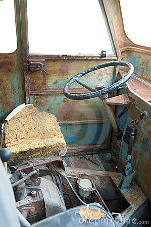 Scrap vehicle interior