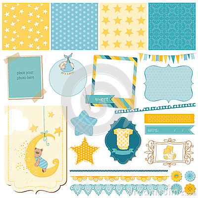 Scrapbook Baby Bear Set