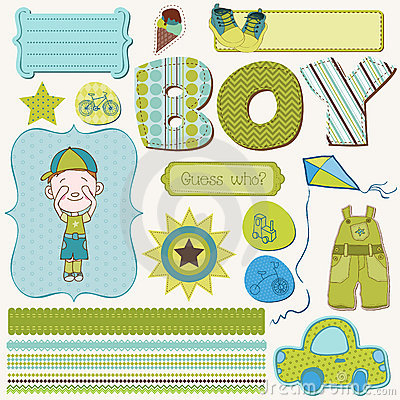 Scrapbook Boy Set