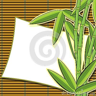 Scrapbook card with bamboo