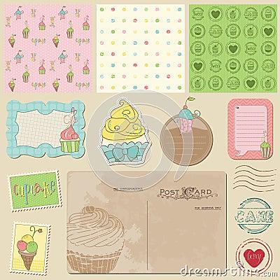 Scrapbook design elements - Sweet Desserts