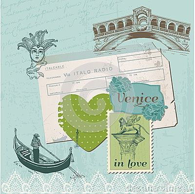 Scrapbook Design Elements - Venice Vintage Set
