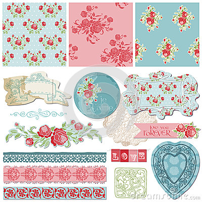 Free Scrapbook Design Elements - Vintage Flowers Royalty Free Stock Photography - 27038017