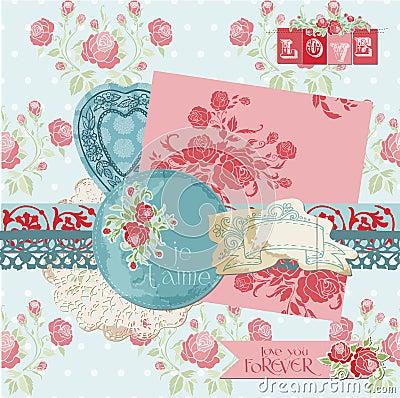Free Scrapbook Design Elements - Vintage Flowers Stock Photo - 27038140