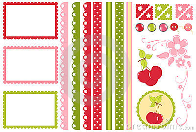 Scrapbook elements. Decors