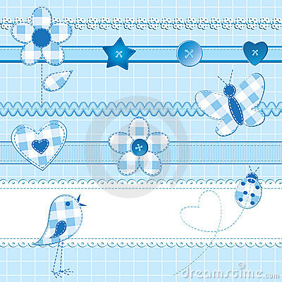Free Scrapbook Elements In Blue Royalty Free Stock Photos - 21381128