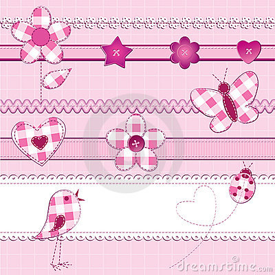 Free Scrapbook Elements In Pink Stock Photo - 21404300