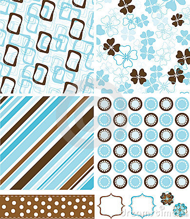 Scrapbook elements and patterns for design,