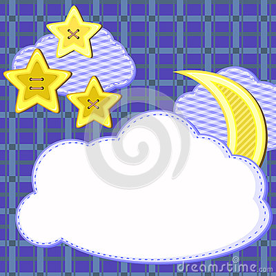 Scrapbook night sky card